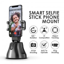 Smart Shooting Selfie Stick 360° [Apai Genie Auto Smart Shooting Selfie Stick 360° Object Tracking Holder] All-In-One Rotation Face Tracking Camera Phone Holder
