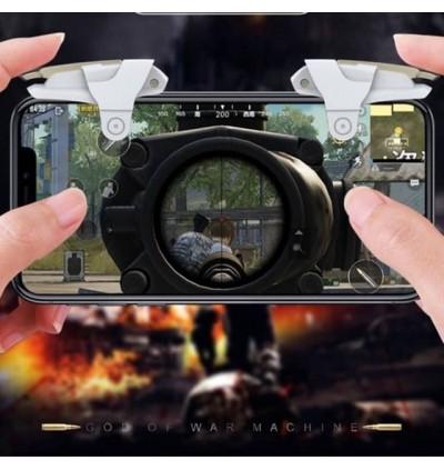 Hight Quality J2 PUBG Mobile Phone Gaming Controller Gamepad Metel trigger Fire Button Aim Key