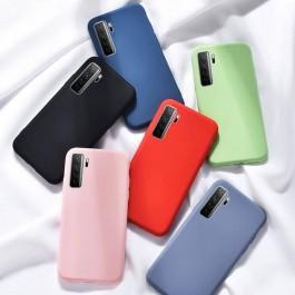 Huawei Nova 7SE/ 7 SE 5G Candy Liquid Full Cover TPU Silicone Anti Shockproof Case