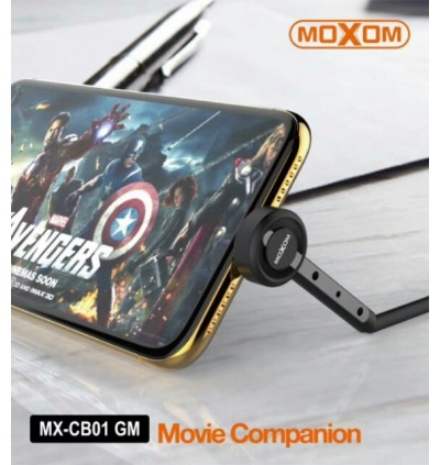 MOXOM MX-CB01 Best 90 Degree Lazy Bracket Folding USB Fast Charging Cable  Data Sync 2.4A 1M Stand Up Phone