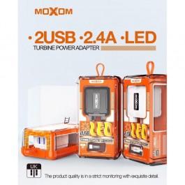 MOXOM MX-HC17 2 USB LED Multiply Security Travel Turbine Power Adapter 2.4A