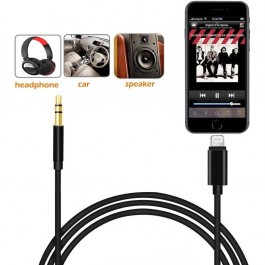 Type C / Lightning to 3.5mm Audio Aux Jack Adapter, Male Extension Headphone Audio Stereo Cord Car Aux Cable