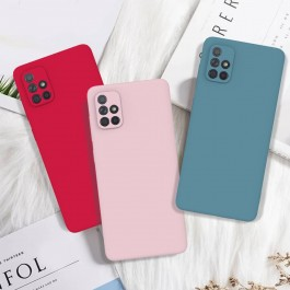 [FULL COVER] Oppo A53, A54, A92, A93, Reno 5, Reno 5F, Reno5 Pro, Realme 7 Official Liquid Candy Color Silicone Soft Full Camera Protection Cover Case