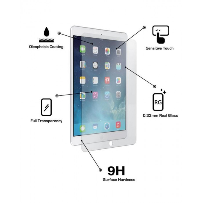 iPad 1/2/3, iPad Mini 1/2/3/4, iPad Air, iPad Pro Tempered Glass Clear
