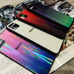 Realme C11 Twilight Fashion Mirrow Gradient Aurora Back Cover Tpu Soft Frame Shockproof Protective Phone Case