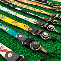 Long Section Mobile Phone Strap Cute Cartoon Lanyard Neck Strap Keys ID Card Badge Holder DIY Hang Rope (Tali Phone)