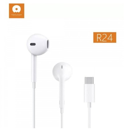 [ORIGINAL] WUW R24 Type C Earphones Wired Lightning 3.5mm In-Ear Handfree Extra Bass Stereo Music MP3 Mic Volume Control
