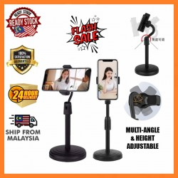 New Multi Function Phone Holder Desk Tripod Steel Stand Mount Bracket Selfie Live Broadcasting Vlog
