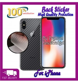 iPhone 4/4S, 5/5S/SE, 6/6S, 6 Plus/6S Plus, 7/8, 7 Plus/8 Plus, X/XS, XS Max, 11, 11 Pro, 11 Pro Max 3D Anti Scratch Back Carbon Fiber Sticker Protection Film