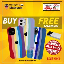 [FREE POWERBANK] iPhone 7/8/SE Plus X/XS XR 11 12 Pro Max Official Rainbow Unicorn Liquid Full Cover TPU Silicone Case