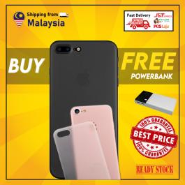 [FREE POWERBANK] iPhone 7/8/SE 2020, 7 Plus/8 Plus, X/XS, XR, XS Max, 11, 11 Pro, 11 Pro Max Ultra Slim Thin TPU Transparent Matte Case