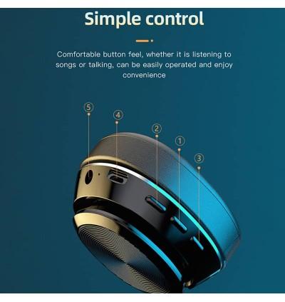VJ320 HiFi Grade Wireless Headphone Stylish Bluetooth 5.0 Super Bass Stereo Music Support TF Card With Microphone Like Bose