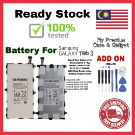 [100% FULL CAPACITY] Battery Samsung Galaxy Tab, Tab 2 10.1, Tab 3 7.0, Tab 3 10.1, Tab 3 Lite 7.0, Tab 3 8.0, Note 10.1 P1000 P3200 P5100 P5200 P7510 T111 T311 N8000 High Quality Replacement Spareparts