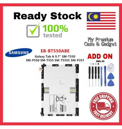 [100% FULL CAPACITY] Battery Samsung Galaxy Tab A 7.0 2016, Tab A 8.0, Tab A 8.0 2019, Tab A 9.7, Tab S2 8.0 P355 P555 T285 T295 T715 High Quality