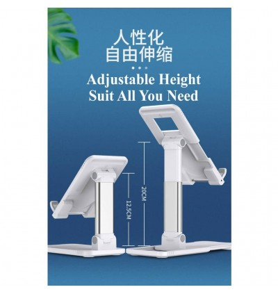 Universal 2 In 1 Aluminum Alloy Metal Stand Holder Mount Fordable Multi Angle Adjustable Support All Smartphone Tablet