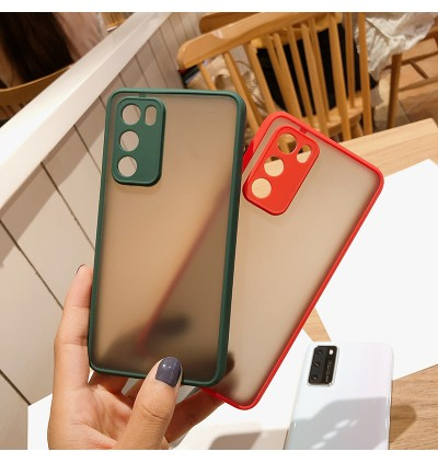 Samsung A02S, A32 4G, A32 5G, A52, A72 Matte Transparent Full Camera Protection Anti Shockproof Case
