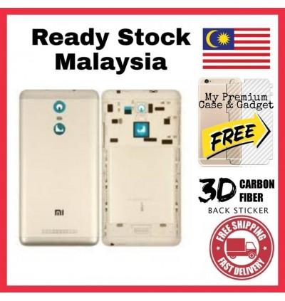 Redmi Note 3, Xiaomi Mi 3, 4, 4i, 5 Back Battery Cover Housing Sparepart Replacement FREE Back Carbon Fiber Sticker