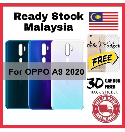 Oppo A33/Neo 7, A37/Neo 9, A9/A5 2020, F9 Back Battery Cover Housing Sparepart Replacement FREE Back Carbon Fiber Sticker