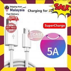 [ORIGINAL] Oppo Vivo Huawei Samsung Xiaomi 5A Micro USB Cable Flash VOOC Super Quick Qualcomm 3.0 Charge & Fast Data Sync 1 Meter Cable