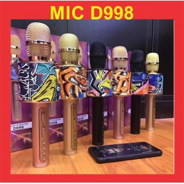 D998 The Portable Magic KTV Karaoke Bluetooth Microphone Speaker