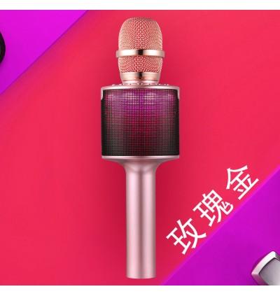 N-13 Handheld KTV Karaoke Wireless Bluetooth Microphone Speaker With LED Light