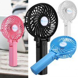 Desk or Travel Mini USB Rechargeable Strong Wind Foldable Hand Fan