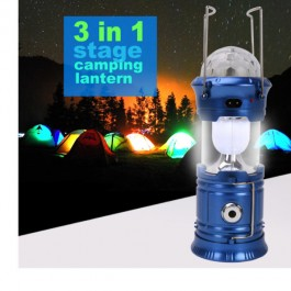 Magic Cool 3 IN 1 Bright Solar LED Rechargeable Camping Emergency Light Lamp