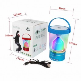 Bluetooth Speaker C-337 With 3 Brightness LED Light