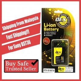Battery DEX For Sony Erisson BST36 BST37 BST38 BST39 BST41 BST43 EP500