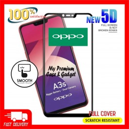 Oppo A1K, A3S, A37, A5, A5S, A57, A59, A7, A71, A83, A9 2020 5D Full Cover 9H Hardness Tempered Glass