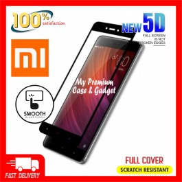 Redmi 4A, 5, 5A, 5 Plus, 6, 6A, 7, S2 5D Full Cover 9H Hardness Tempered Glass