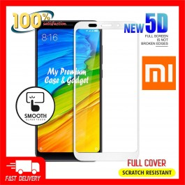 Redmi Note 5, 5A, 7, 7 Pro 5D Full Cover 9H Hardness Tempered Glass