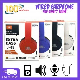 JBL J-08 Harman Stereo Headphones Extra Bass With Mic
