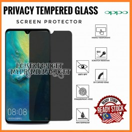 Oppo A3S, A33, A37, A57, A59, A71, A77, A83Anti Spy 9H Hardness Full Glue Tempered Glass