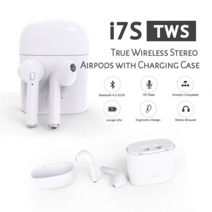 baf6a6e30b8 i7S TWS Wireless Bluetooth Earbuds Earphones With Charging Case ...