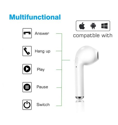 i7S TWS Wireless Bluetooth Earbuds Earphones With Charging Case