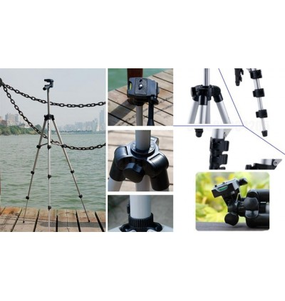 3110 Portable Camera Tripod with Three-dimensional Head & Carrying Bag