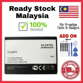 [100% FULL CAPACITY] Battery Alcatel Pixi 3 (TLi014A1), Pixi 4 (TLi020F7), Q1 High Quality Replacement Spareparts Add-On Tools