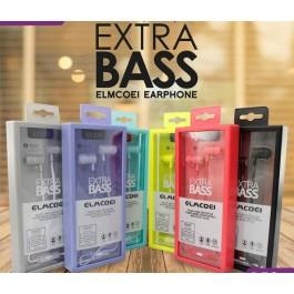 ELMCOEI EV-110 Sports Earphone In-Ear Stereo 3.5mm Jack With Mic Extra Bass