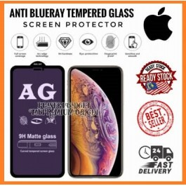 [FULL COVER] iPhone 6/6S, 6 Plus/6S Plus, 7/8/SE 2020, 7 Plus/8 Plus, X/XS, XR, XS Max, 11, 11 Pro, 11 Pro Max 12, 12 Pro, 12 Pro Max 5D/9D AG Matte Anti Blue Ray Full Glue Gaming Tempered Glass