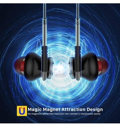 BOROFONE BM1 Magnetic Earphones 3.5mm Jack In-Ear Stereo Controllable Earbuds