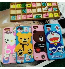 [READY STOCK] iPhone 5/5S, 6/6s, 7/8 3D Cartoon Full Protection Soft TPU Silicone Shockproff Case