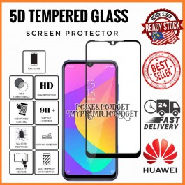 [FULL COVER] Huawei Y5 2019, Y5P 2020, Y6 2018, Y6P, Y9 2019, Y9 Prime 5D/9D Premium Edge To Edge HD Full Glue Tempered Glass