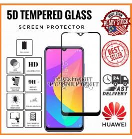 [FULL COVER] Huawei Y5 2019, Y5P 2020, Y6 2018, Y6P, Y9 2019, Y9 Prime 5D/9D Premium Edge To Edge HD Full Glue Tempered Glass