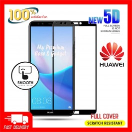 Huawei Y5 Prime, Y6 2018, Y9 2019, Y9 Prime 5D Full Cover 9H Hardness Tempered Glass