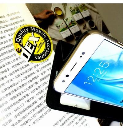 Motorola C, E4 S View Window Flip Case FREE Tempered Glass