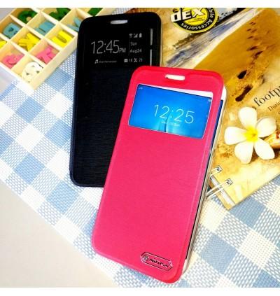 Motorola C Plus, E4 Plus Nillkin S View Window Flip Case Cover FREE Tempered Glass
