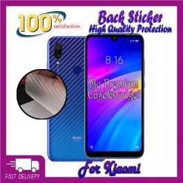 Redmi 5, 5A, 5 Plus 6A, 7, Go Back Carbon Fiber Sticker Protection