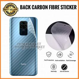 Redmi Note 5A, Note 7  3D Anti Fingerprint Back Carbon Fiber Sticker Film