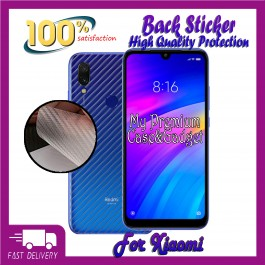 Redmi Note 5A, Note 7 Back Carbon Fiber Sticker Protection